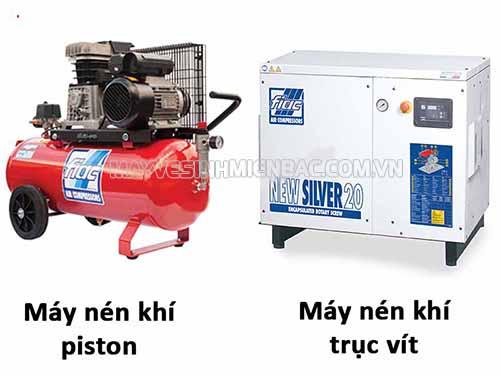 So sánh máy nén khí trục vít và máy nén khí piston, ứng dụng trong thực tế