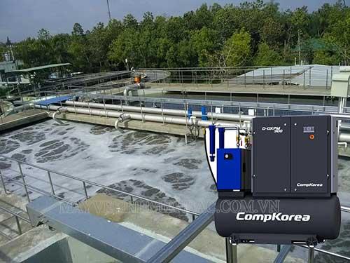 Máy nén khí giúp ổn định lại phần lưu lượng và chất lượng của nguồn nước