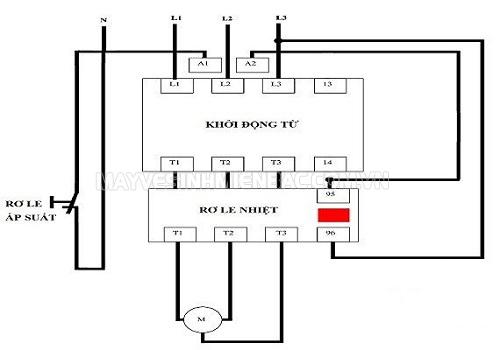 sơ đồ mạch điện máy nén khí
