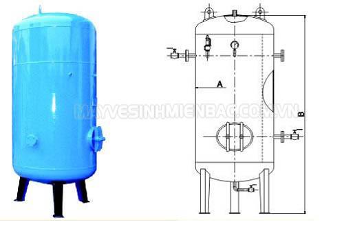 Bình tích áp của máy nén không khí dùng để tích trữ khí nén