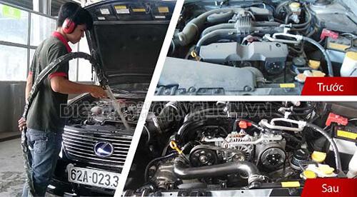 Rửa máy xe ô tô bằng CO2