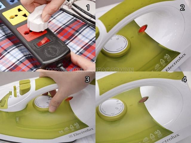 cách làm sạch bàn ủi hơi nước