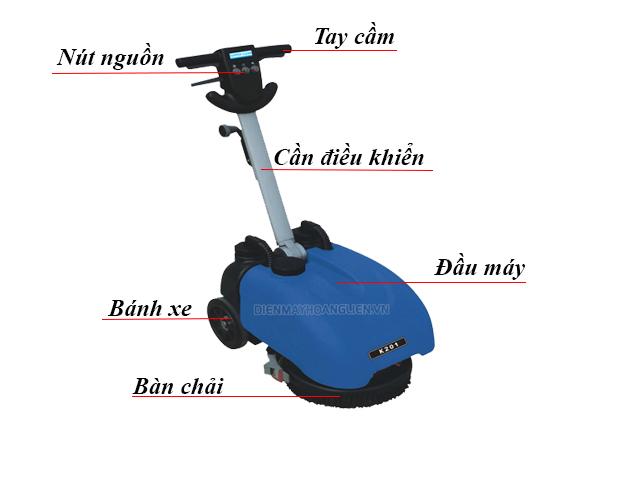 Cấu tạo của máy chà sàn mini Supper Clean K201