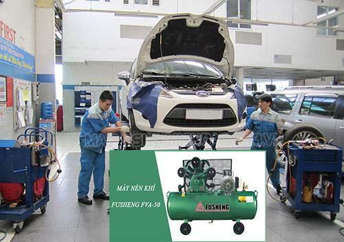 Trong ngành sửa chữa ô tô, máy nén khí được dùng thường xuyên