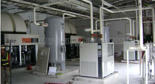 Máy nén không khí được dùng trong các nhà máy
