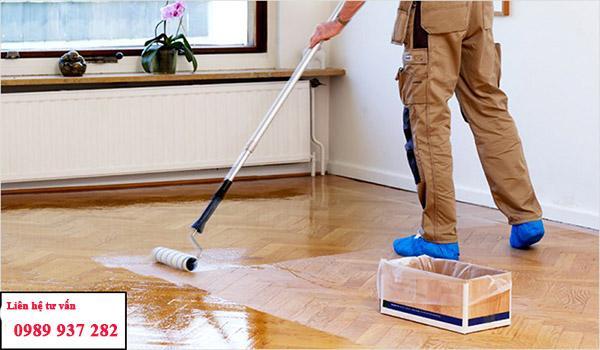 Đánh bóng sàn gỗ giúp sàn luôn bóng sáng và bền đẹp