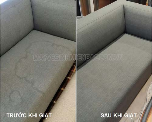 Sofa trước và sau khi giặt
