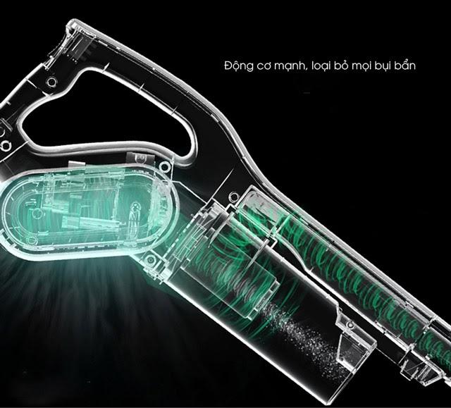 Công nghệ hút bụi lốc xoáy, đẩy nhanh hiệu quả làm sạch