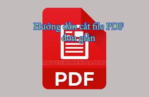 cách cắt trang PDF