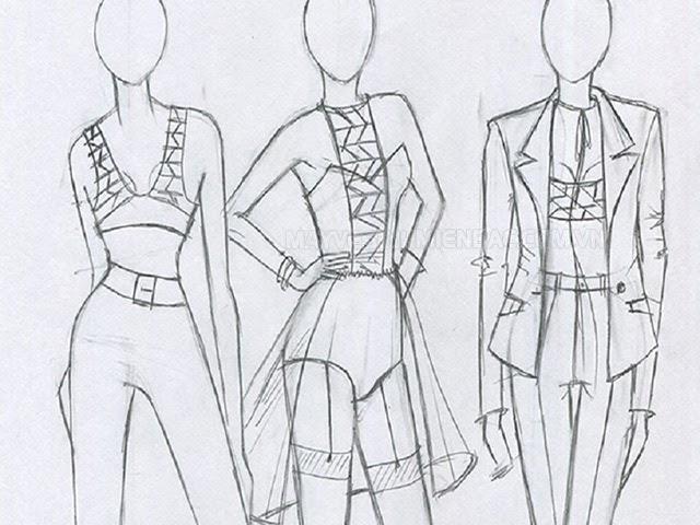 cách vẽ quần áo bằng bút chì