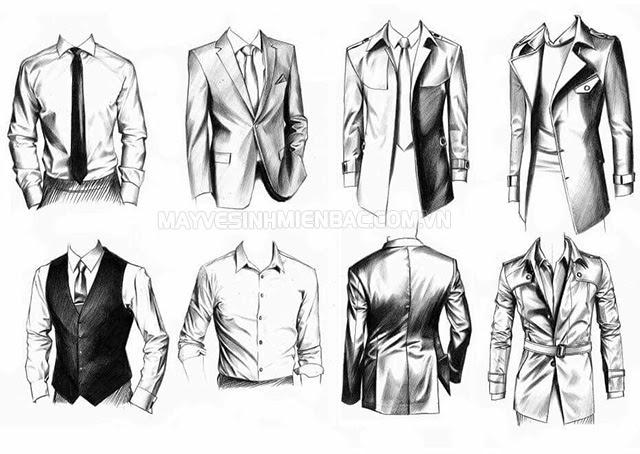 cách vẽ quần áo nam đơn giản