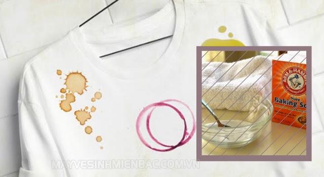 tẩy trắng quần áo bằng baking soda và giấm