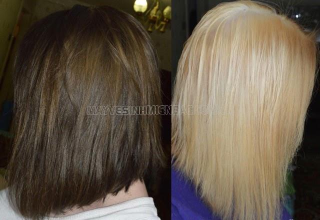 tẩy tóc giúp màu bật tone chuẩn hơn