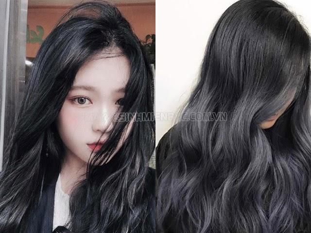 màu xanh đen nhạt phù hợp với nước da hơi trầm