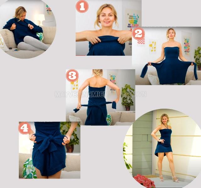 cách sửa quần áo cũ thành mới