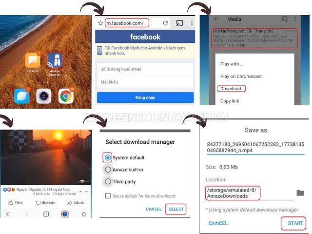 làm sao để lưu video trên Facebook về điện thoại Android