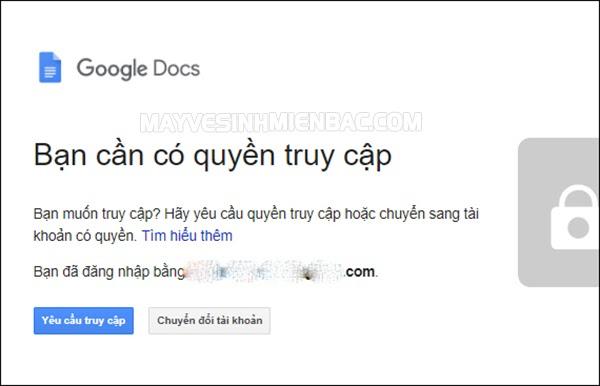 quyền truy cập bị từ chối google drive