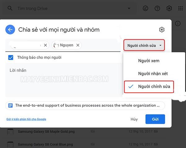 google drive quyền truy cập bị từ chối
