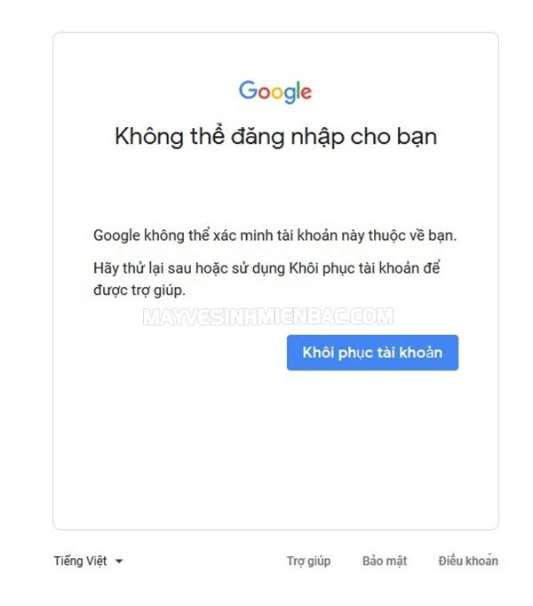 lỗi quyền truy cập bị từ chối google drive