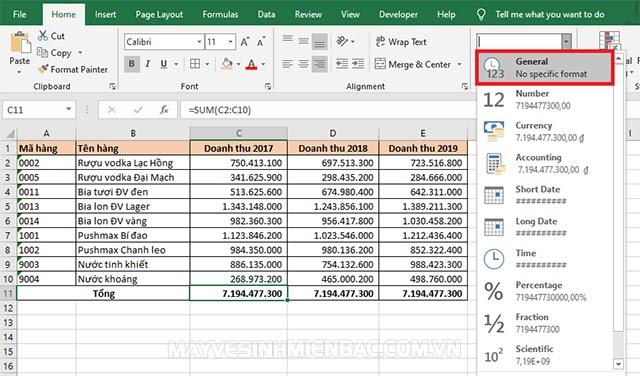 Excel không tự nhảy công thức