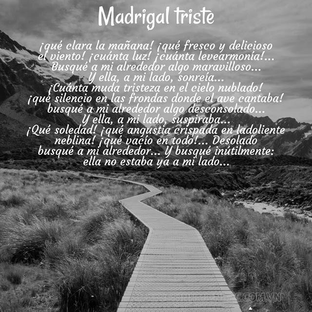 Bài thơ Madrigal triste