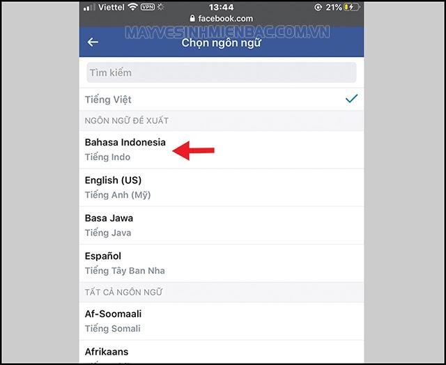 cách đổi tên facebook 1 chữ bằng điện thoại