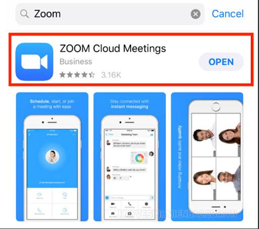 cập nhật phần mềm zoom trên điện thoại